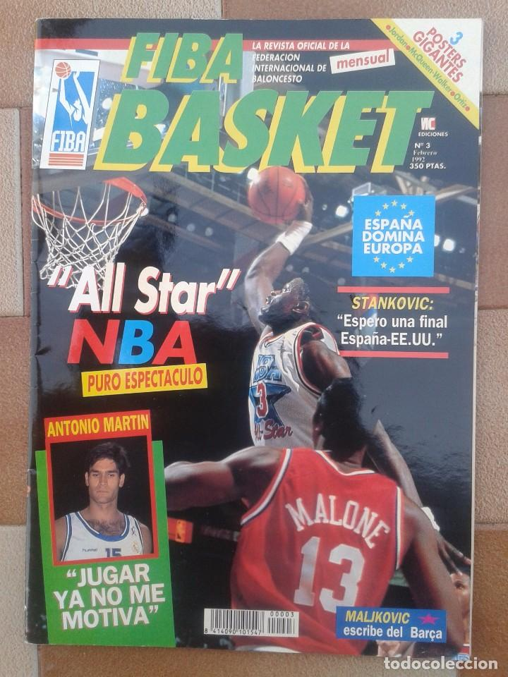 Coleccionismo deportivo: FIBA BASKET: 1, 3, 5, 6. REVISTAS DE BALONCESTO 1991-1992, MAGIC JOHNSON, USA, POSTER ESTUDIANTES... - Foto 4 - 93037605