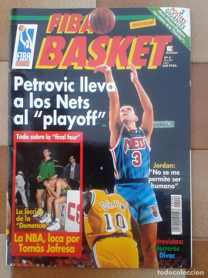 Coleccionismo deportivo: FIBA BASKET: 1, 3, 5, 6. REVISTAS DE BALONCESTO 1991-1992, MAGIC JOHNSON, USA, POSTER ESTUDIANTES... - Foto 5 - 93037605