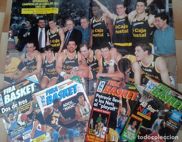 Coleccionismo deportivo: FIBA BASKET: 1, 3, 5, 6. REVISTAS DE BALONCESTO 1991-1992, MAGIC JOHNSON, USA, POSTER ESTUDIANTES... - Foto 7 - 93037605
