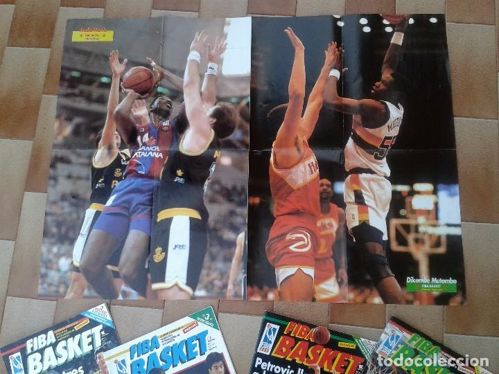 Coleccionismo deportivo: FIBA BASKET: 1, 3, 5, 6. REVISTAS DE BALONCESTO 1991-1992, MAGIC JOHNSON, USA, POSTER ESTUDIANTES... - Foto 8 - 93037605
