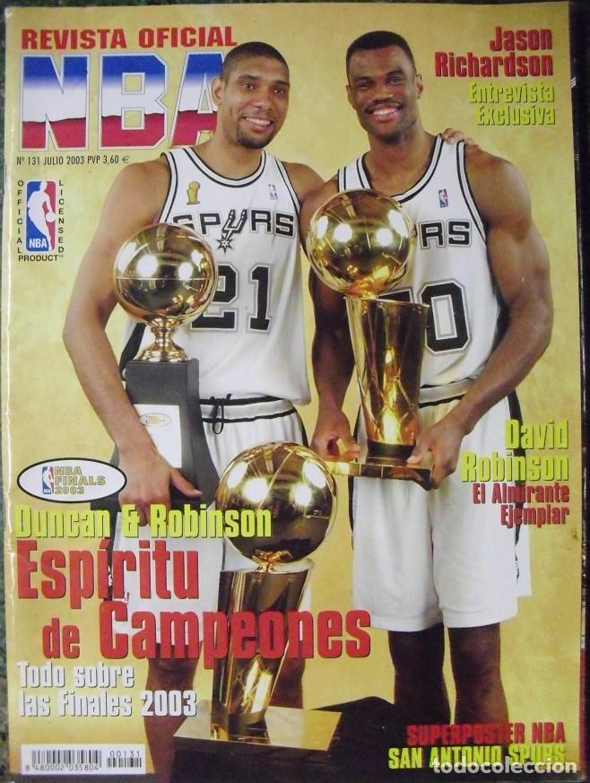 ''REVISTA OFICIAL NBA'' - SEGUNDO ANILLO DE LOS SAN ANTONIO SPURS (2003) - MICHAEL JORDAN (Coleccionismo Deportivo - Revistas y Periódicos - otros Deportes)