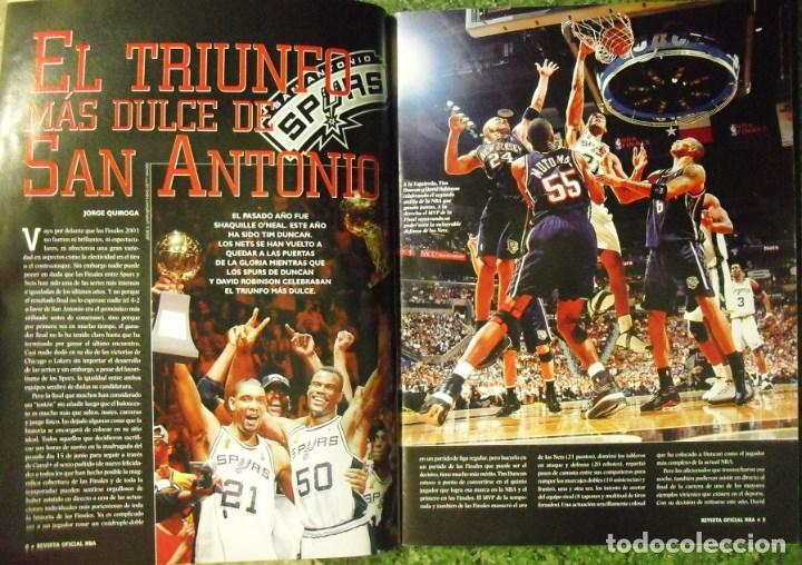 Coleccionismo deportivo: Revista Oficial NBA - Segundo anillo de los San Antonio Spurs (2003) - Michael Jordan - Foto 2 - 94283505