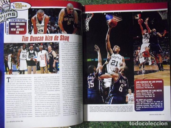 Coleccionismo deportivo: Revista Oficial NBA - Segundo anillo de los San Antonio Spurs (2003) - Michael Jordan - Foto 4 - 94283505
