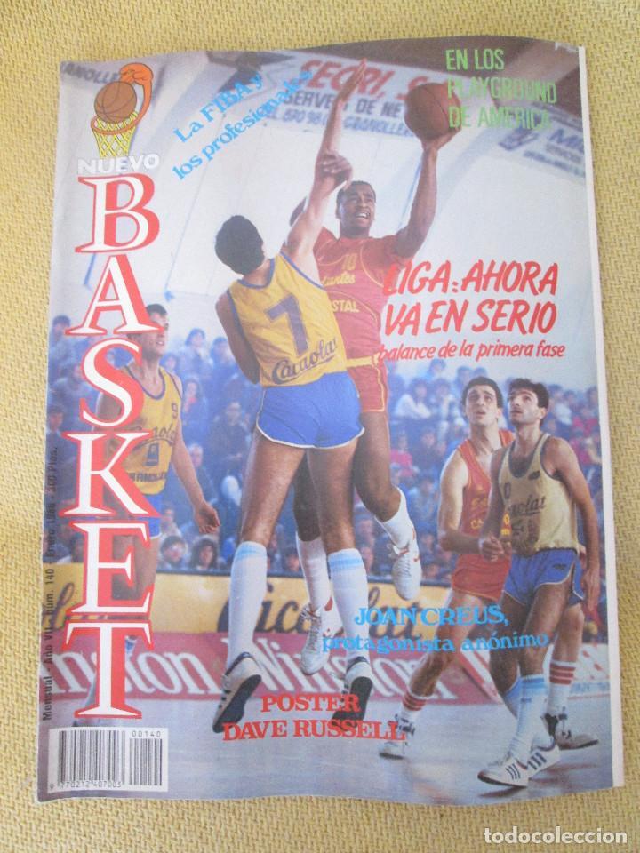 REVISTA NUEVO BASKET AÑO VII, NUMERO 140, ENERO 1986 (Coleccionismo Deportivo - Revistas y Periódicos - otros Deportes)
