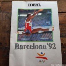 Coleccionismo deportivo: DIARIO IDEAL: SUPLEMENTO ESPECIAL BARCELONA 92. Lote 94611643