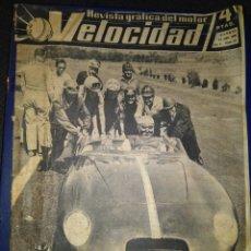 Coleccionismo deportivo: VELOCIDAD REVISTA GRÁFICA DEL MOTOR JULIO 1960, AÑO I-N° 10/ ESCUELA DE CORREDORES EN ITALIA. Lote 94905091