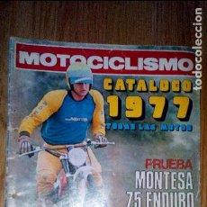 Coleccionismo deportivo: MOTOCICLISMO CATALOGO 1977 . Lote 95087563
