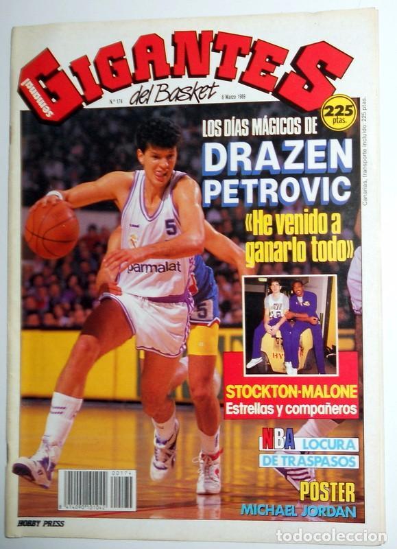 REVISTA GIGANTES DEL BASKET Nº174 MARZO 1989. BALONCESTO. ENTREVISTA DRAZEN PETROVIC REAL MADRID (Coleccionismo Deportivo - Revistas y Periódicos - otros Deportes)