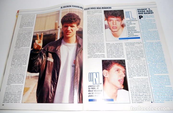 Coleccionismo deportivo: REVISTA GIGANTES del BASKET Nº174 Marzo 1989. BALONCESTO. ENTREVISTA DRAZEN PETROVIC REAL MADRID - Foto 3 - 95570447