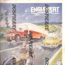 Coleccionismo deportivo: REVISTA FRANCESA, ENGLEBERT MAGAZINE, 1951, ARTICULO SOBRE LA PELOTA VASCA. Lote 95882839