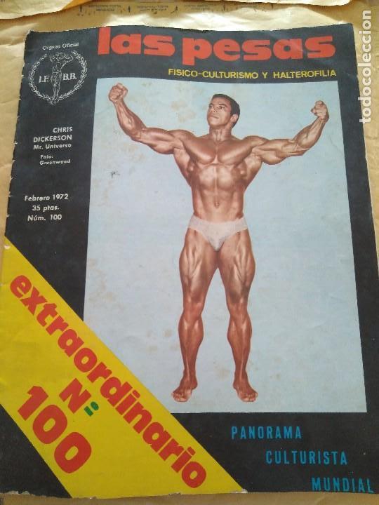 REVISTA LAS PESAS EXTRAORDINARIO FISICO CULTURISMO Y HALTEROFILIA Nº 100 DICKERSON FEBRERO 1972 (Coleccionismo Deportivo - Revistas y Periódicos - otros Deportes)