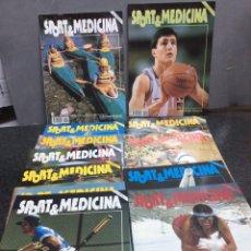 Coleccionismo deportivo: SPORT & MEDICINA, REVISTAS MEDICO DEPORTIVAS - LOTE 13 EJEMPLARES. Lote 45447727
