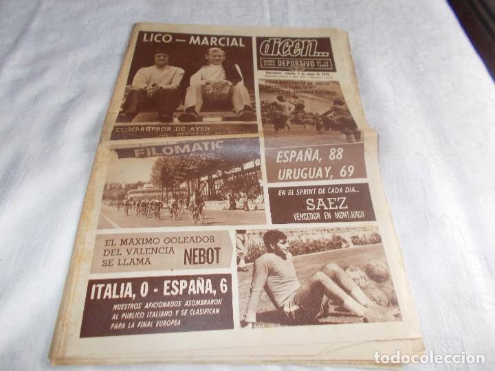 DICEN...SÁBADO 2 DE MAYO 1970 (Coleccionismo Deportivo - Revistas y Periódicos - otros Deportes)