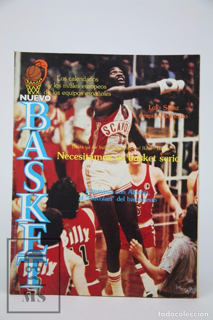 REVISTA NUEVO BASQUET / LOLO SÁINZ DESPUÉS DEL ÉXITO Nº 87 - DICIEMBRE 1982 - BALONCESTO (Coleccionismo Deportivo - Revistas y Periódicos - otros Deportes)