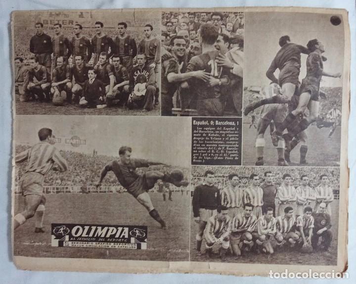 Coleccionismo deportivo: REVISTA OLIMPIA. Nº 63 DICIEMBRE 1953. ESPANYOL 0 BARCELONA 1 - Foto 2 - 99756971