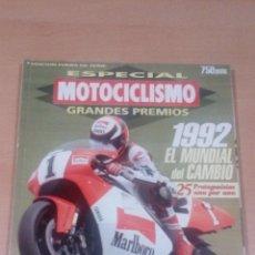 Coleccionismo deportivo: MOTOCICLISMO - ESPECIAL GRANDES PREMIOS 5 - 1992 - BUEN ESTADO . Lote 101774954