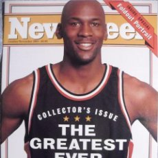 Coleccionismo deportivo: MICHAEL JORDAN - REVISTA ''NEWSWEEK'' (ESPECIAL RETIRADA DE 1993) - NBA - CON PÓSTER. Lote 100265779