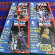 Coleccionismo deportivo: REVISTA OFICIAL NBA NºS 36 38 39 43 CON PÓSTER. 1995. 425 PTS.. Lote 100304235