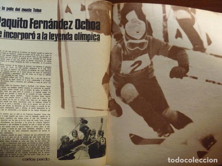 Coleccionismo deportivo: FRANCISCO FERNÁNDEZ OCHOA SAPPORO CAMPEÓN OLÍMPICO DEPORTE 2000 MARZO 1972 - Foto 2 - 101095363