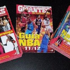 Coleccionismo deportivo: LOTE 26 REVISTAS GIGANTES DEL BASKET 2011-2012-VARIOS NÚMEROS. Lote 101312107