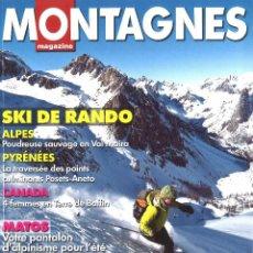 Coleccionismo deportivo: MONTAGNES MAGAZINE. 376. MARZO 2012. EN FRANCÉS. Lote 101993775