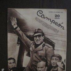 Coleccionismo deportivo: PRIMO CARNERA -BOXEO - PORTADA REVISTA CAMPEON - AÑO 1933 -VER FOTOS -(V- 12.545) . Lote 102643079
