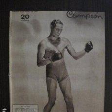 Coleccionismo deportivo: MAX BAER -BOXEO - PORTADA REVISTA CAMPEON - AÑO 1935 -VER FOTOS -(V- 12.546) . Lote 102643147