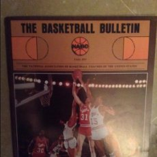 Coleccionismo deportivo: THE BASKETBALL BULLETIN (NABC) FALL 1977. Lote 104483999
