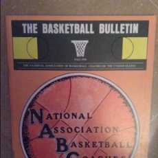Coleccionismo deportivo: THE BASKETBALL BULLETIN (NABC) FALL 1978. Lote 104484027
