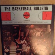 Coleccionismo deportivo: THE BASKETBALL BULLETIN (NABC) SUMMER 1981. Lote 104484119