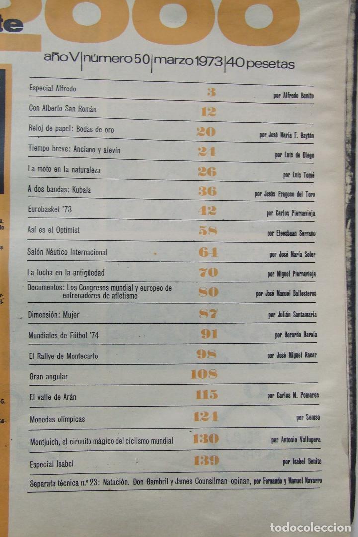 Coleccionismo deportivo: REVISTA DEPORTE 2000 Nº 50 EXTRA 1973 LADISLAO KUBALA MUNDIAL FUTBOL 1974 - Foto 2 - 104614603