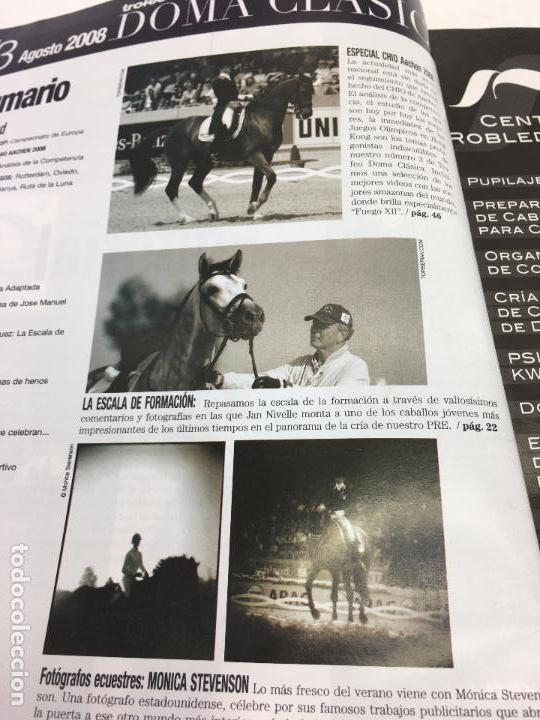 Coleccionismo deportivo: REVISTA TROFEO DOMA CLÁSICA - Nº3 AGOSTO-SEPTIEMBRE 2008 - Foto 3 - 108234259