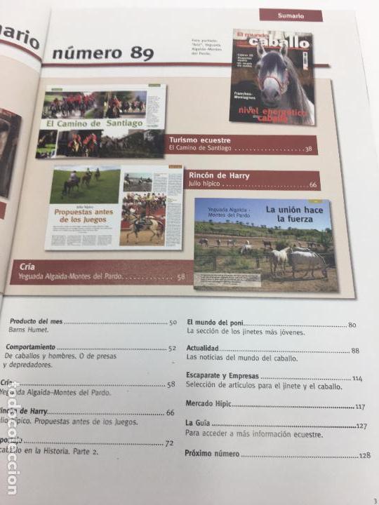Coleccionismo deportivo: REVISTA EL MUNDO DEL CABALLO - Nº 89 - Foto 6 - 108399479