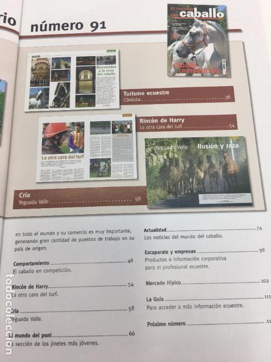 Coleccionismo deportivo: REVISTA EL MUNDO DEL CABALLO - Nº 91 - Foto 6 - 108400167
