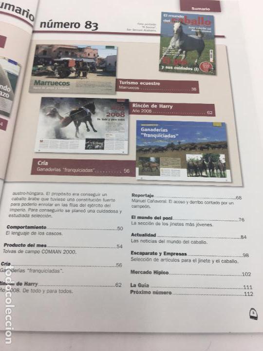 Coleccionismo deportivo: REVISTA EL MUNDO DEL CABALLO - Nº 83 - Foto 7 - 108400775