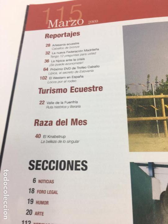 Coleccionismo deportivo: REVISTA TROFEO CABALLO - Nº 115 MARZO 2009 - Foto 6 - 108401655