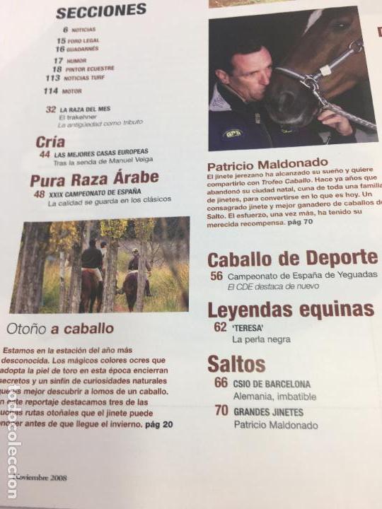 Coleccionismo deportivo: REVISTA TROFEO CABALLO - Nº 111 - NOVIEMBRE 2008 - Foto 6 - 108403875