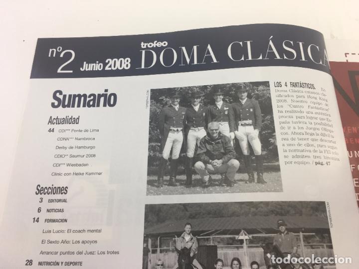 Coleccionismo deportivo: REVISTA TROFEO DOMA CLASICA - Nº 2 - JUNIO - JULIO 2008 - Foto 3 - 108407679