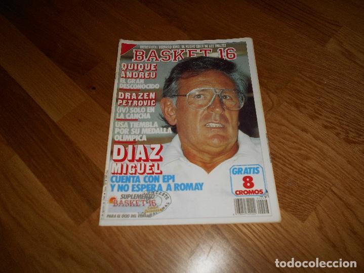 REVISTA BALONCESTO BASKET 16 Nº 46 AGOSTO 1988 DIAZ MIGUEL SIN POSTER NI CROMOS (Coleccionismo Deportivo - Revistas y Periódicos - otros Deportes)
