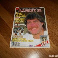 Coleccionismo deportivo: REVISTA BALONCESTO BASKET 16 Nº 54 16 OCTUBRE 1988 SABONIS DIAZ MIGUE PETROVIC . Lote 108438111