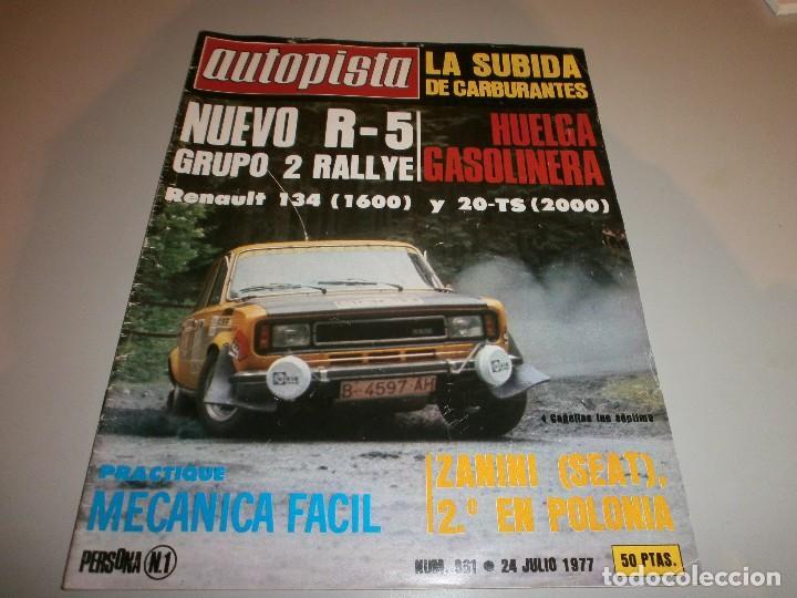 REVISTA AUTOPISTA Nº 961 1977 (Coleccionismo Deportivo - Revistas y Periódicos - otros Deportes)