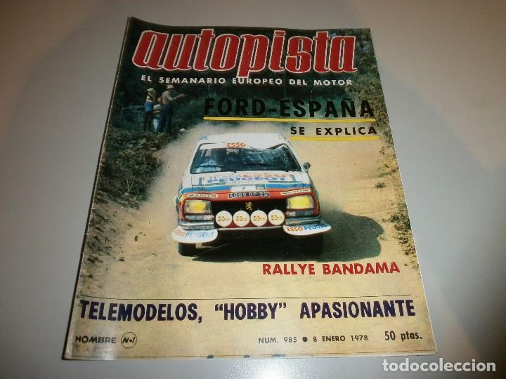 REVISTA AUTOPISTA Nº 985 1978 (Coleccionismo Deportivo - Revistas y Periódicos - otros Deportes)