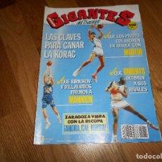 Coleccionismo deportivo: REVISTA GIGANTES DEL BASKET Nº 281 1991 REAL MADRID FINAL KORAC-CAI RECOPA-POSTER FORUM-NCAA-BULLS. Lote 108845659