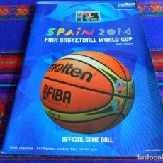 Coleccionismo deportivo: SPAIN 2014 FIBA BASKETBALL WORLD CUP, OFFICIAL GAME BALL. CASTELLANO. MUNDIAL BALONCESTO ESPAÑA.. Lote 109552775