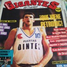 Coleccionismo deportivo: GIGANTES DEL BASKET ¡ QUE VIENE PETROVIC ! NÚMERO 122 7 MARZO 1988. Lote 111114115