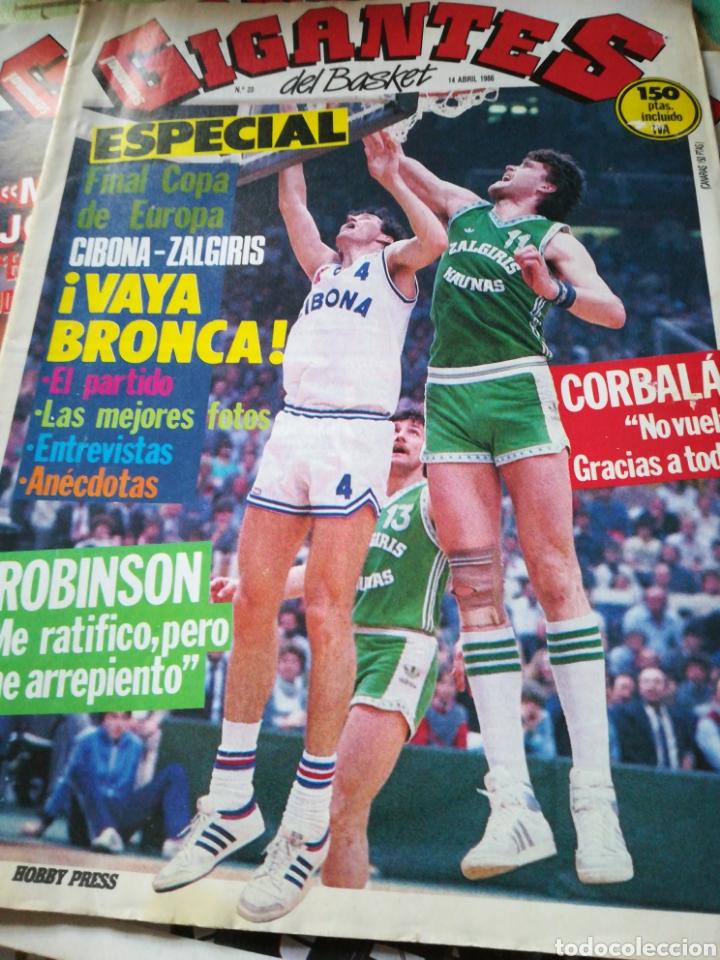 GIGANTES DEL BASKET NÚMERO 23 14 ABRIL 1986 (Coleccionismo Deportivo - Revistas y Periódicos - otros Deportes)