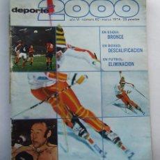 Coleccionismo deportivo: DEPORTE 2000 62 ESQUI ALPINO BIATLON BOXEO CARLOS MONZON TONI ORTIZ CAMPEONATOS BOBSLEIGH. Lote 111613423