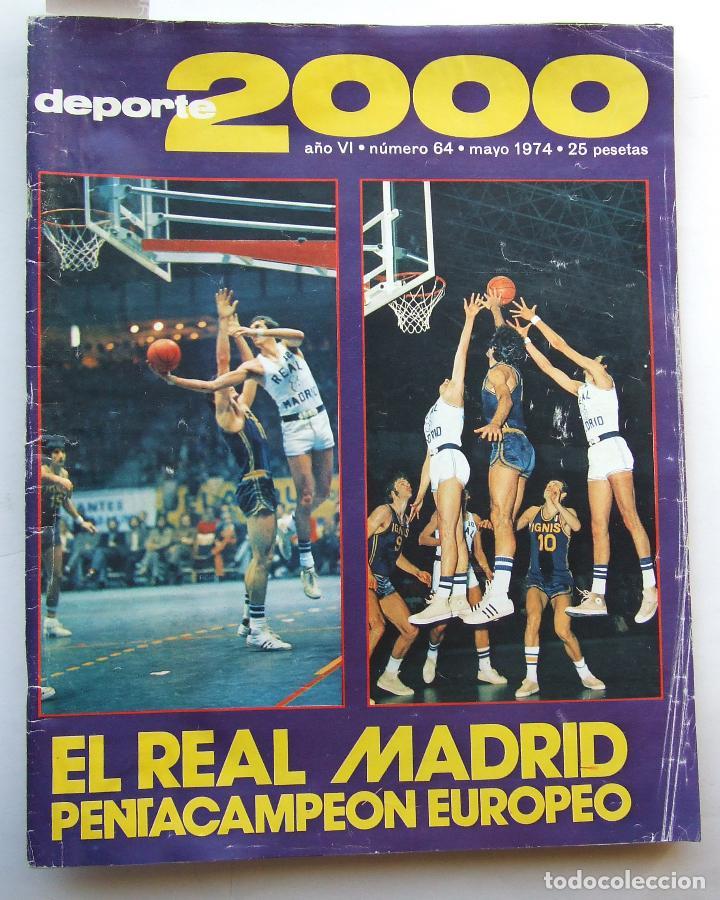 DEPORTE 2000 64 REAL MADRID BALONCESTO BOXEO GITANO JIMENEZ HOCKEY HIERBA MONTJUICH ATLETICO (Coleccionismo Deportivo - Revistas y Periódicos - otros Deportes)