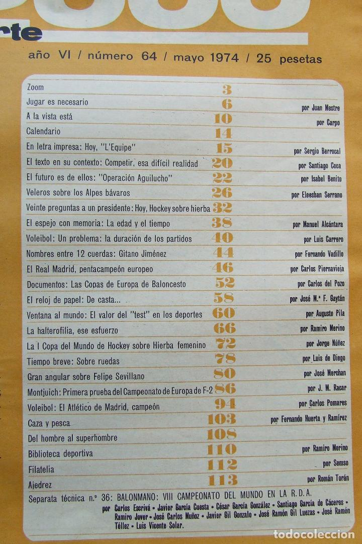 Coleccionismo deportivo: DEPORTE 2000 64 REAL MADRID BALONCESTO BOXEO GITANO JIMENEZ HOCKEY HIERBA MONTJUICH ATLETICO - Foto 2 - 111613619