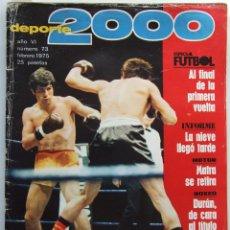 Coleccionismo deportivo: DEPORTE 2000 73 BOXEO JOSE DURAN MOTOCICLISMO . Lote 111613851